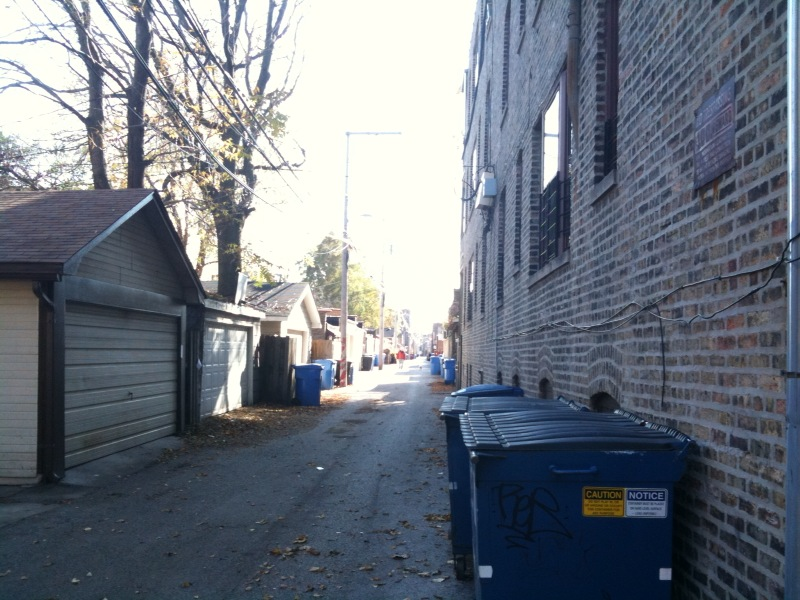 Chicago Alley Empty Wrigleyville