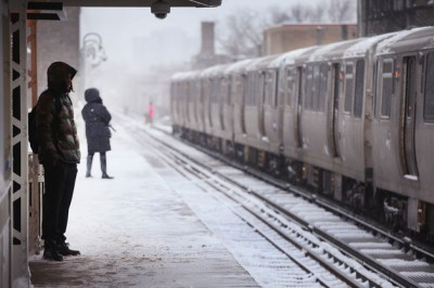 Chicago L snow