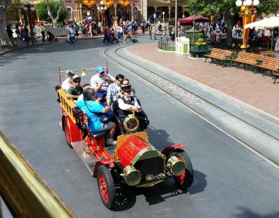 Disneyland fire truck