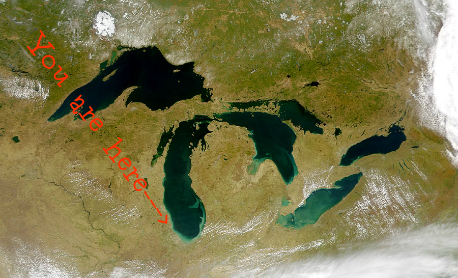 Great Lakes You Are Here