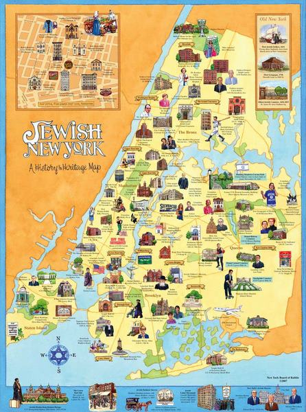 Jewish New York Map