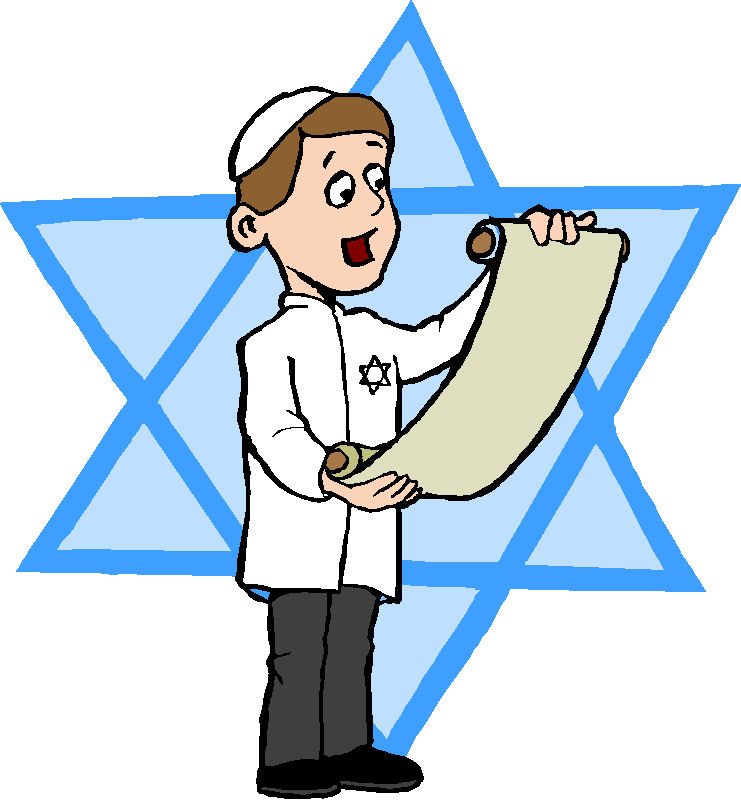 Jewish boy with Torah line art