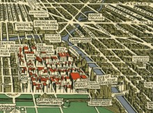 Old Chicago neighborhood map