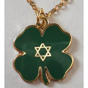 Star of David Clover pendant