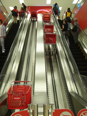 escalator at target