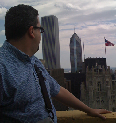 looking over tribune tower