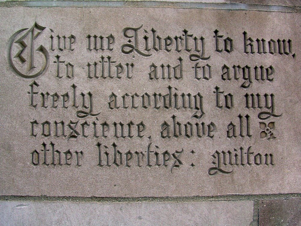 tribune tower milton quote